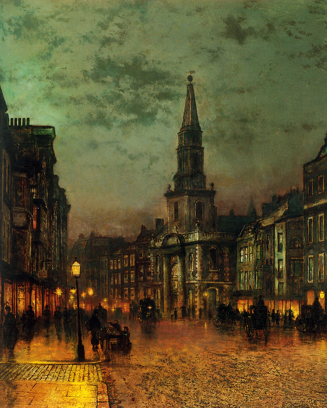 Blackman Street, London, 1885, by John Atkinson Grimshaw