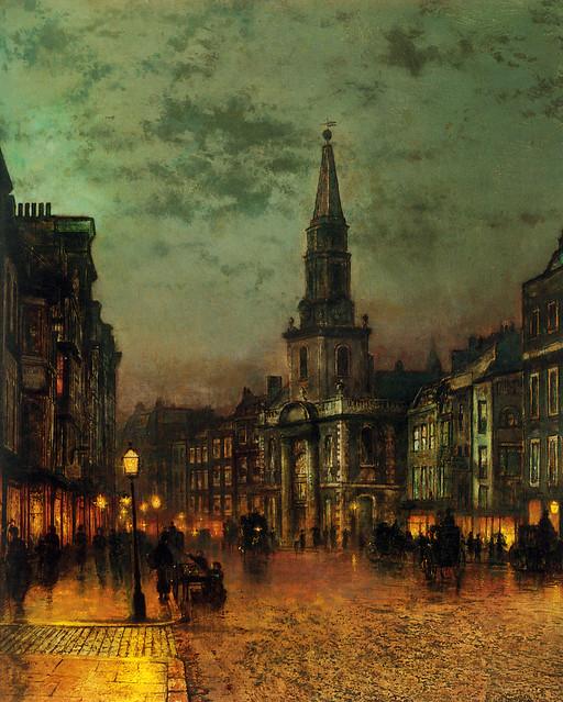 Blackman Street, London, 1885, by John Atkinson Grimshaw