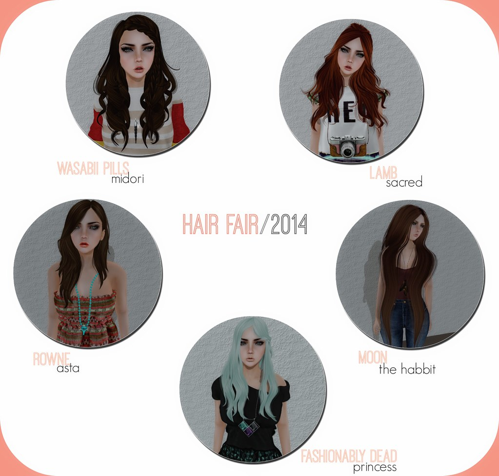 Hair Mainia. HF ~ Wassabi Pills, lamb, Rowne, Moon, Fashionably Dead