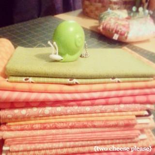Peach Fuzz fabric stack for DUDQS4