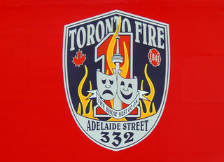 """Toronto Fire Station #332 """"The Show Must Go On"""" Motto / Logo"""