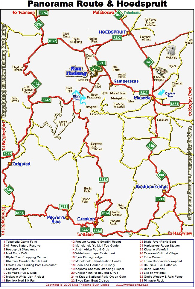 Panorama Route South Africa Map.The Panorama Route Necessary Indulgences