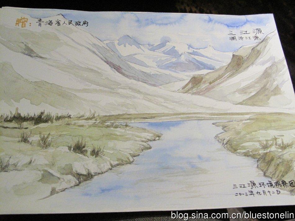 志願者為傳達保護三江源理念而作的畫。(圖片來源:林吉洋)