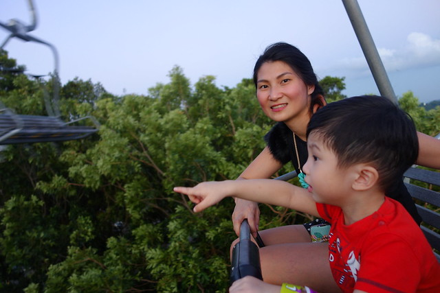 Jerry has NO FEAR on the Skyride. He was just enjoying the experience to its fullest.
