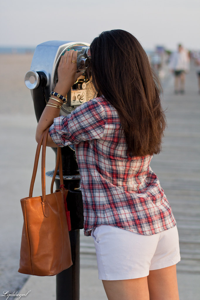 plaid shirt, white shorts.jpg