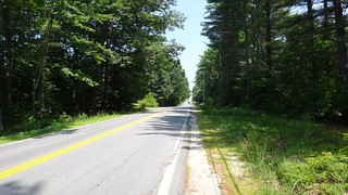 The straightest road we've ridden in weeks.