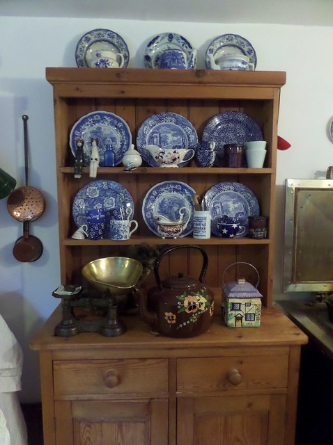 Blue China on Dresser