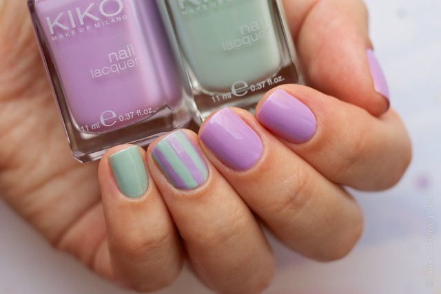 03 Kiko #345 Jade Green, Kiko #330 Lilac