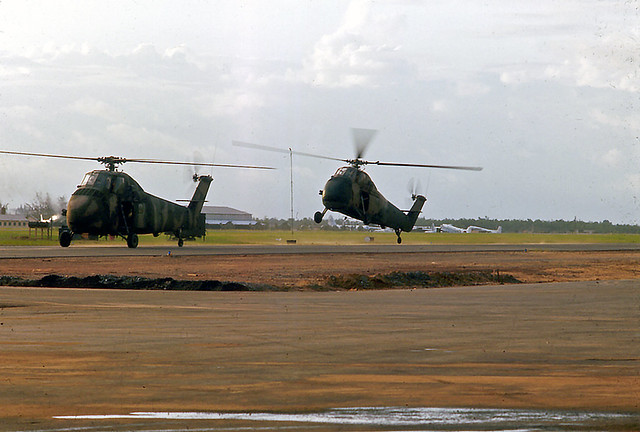 Danang Army Helicopters 1966-67 - Photo by D Guisinger