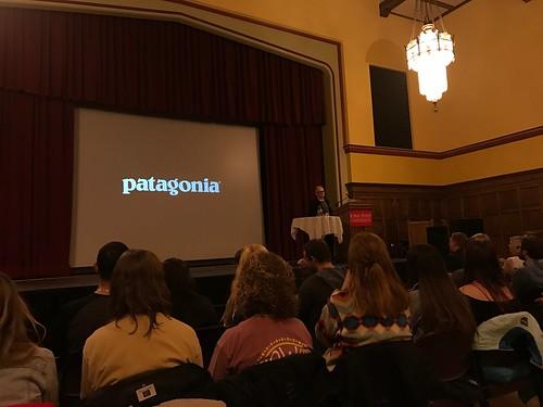 Rick Ridgeway Lecture at Iowa State University on Patagonia