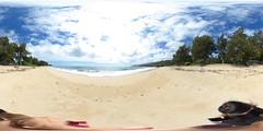 Laie Beach Park, Laie, Ko'olauloa, Oahu, Hawaii - 360° Equirectangular VR