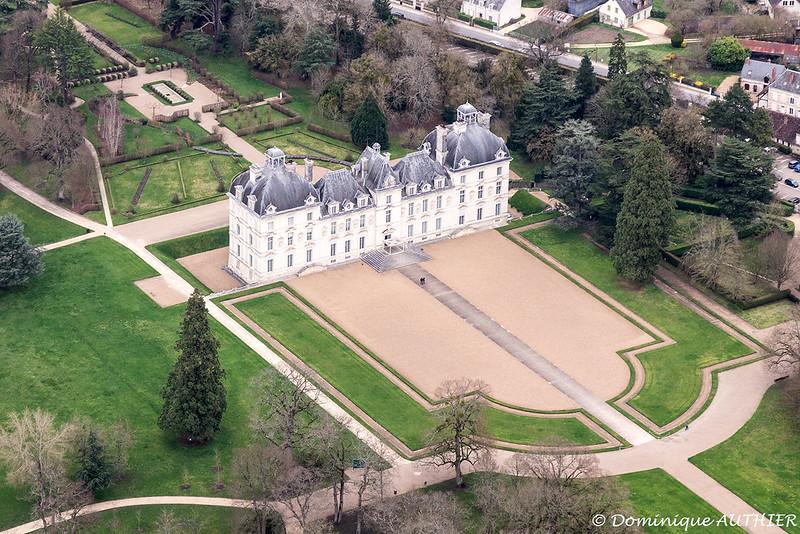 Château de Cheverny (Loir-et-Cher), vue aérienne