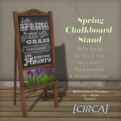 Spring Chalkboard Stand - Hello Spring