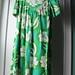 dress hawaiian green barkcloth