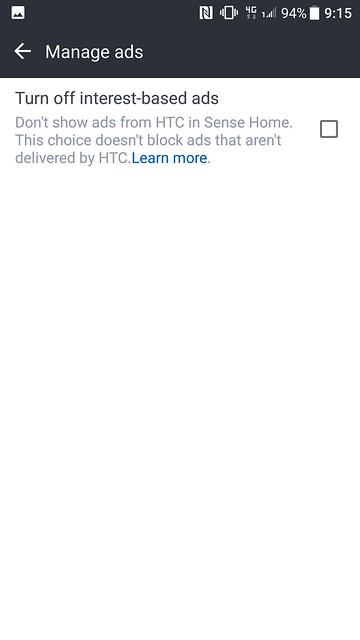 HTC Sense - Ads