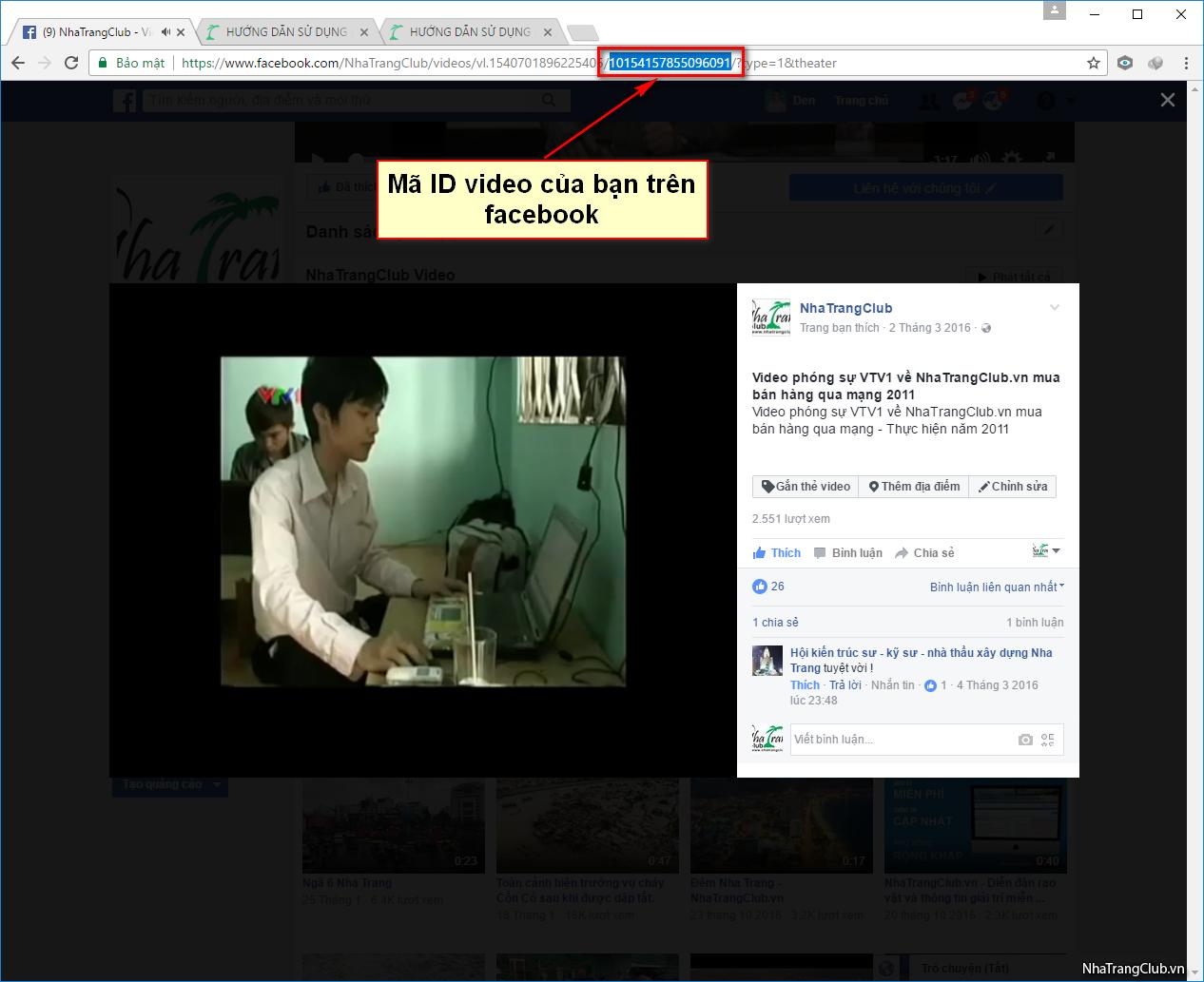 Hướng dẫn up video từ Facebook lên diễn đàn.
