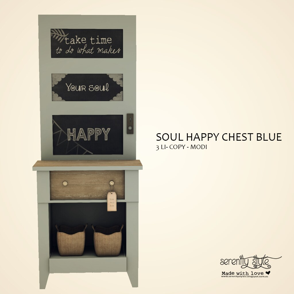 Serenity Style- Soul Happy Chest Blue for 15CoOp - SecondLifeHub.com