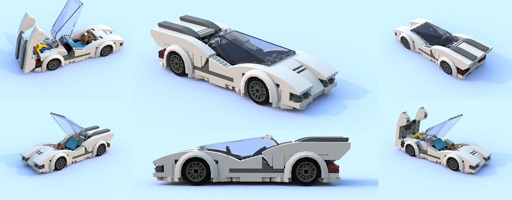 6-wide concept car (custom built Lego model)