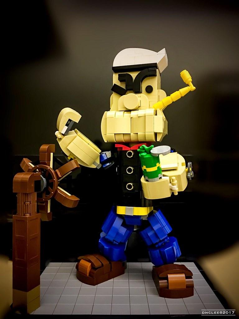 Lego – Popeye The Sailor Man (custom built Lego model)