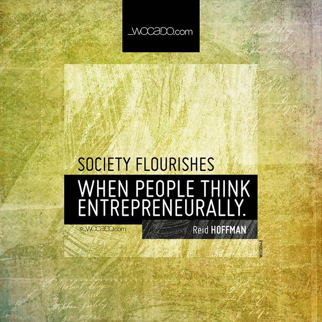 Society flourishes by WOCADO.com