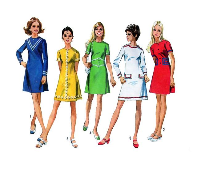 Simplicity 8636 70s dress pattern