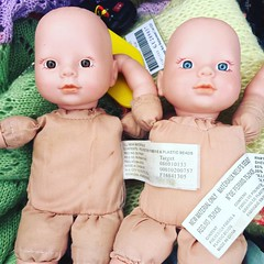 Bought these 2 dolls at a thrift store and hid them in both sisters suitcases #joke #prankster #silly #babydoll #thriftstorefinds