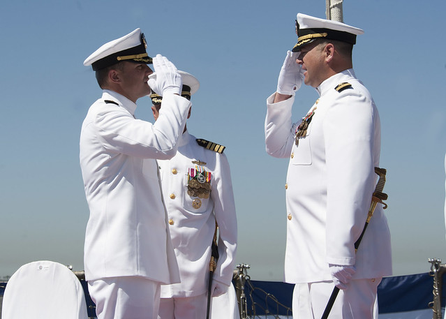SAN DIEGO – The officers and crew of USS Milius (DDG 69) attended a change of command ceremony while in homeport at Naval Base San Diego.