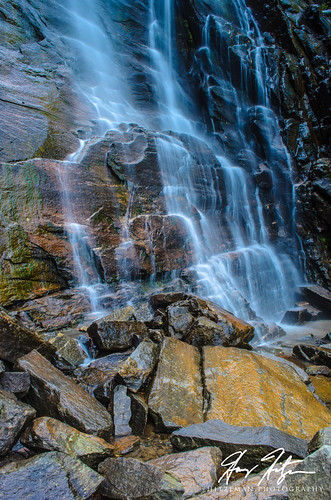 hickorynutfalls waterfall chimneyrock northcarolina unitedstates