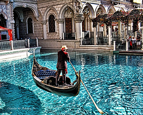 Gondola at the Venetian (Digital Airbrush Painting)