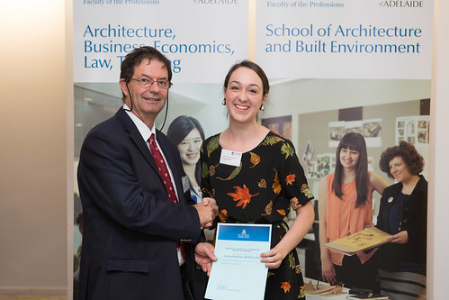 2013 Winner: Louisa Rebellato - Presented by Prof George Zillante (Head of School)