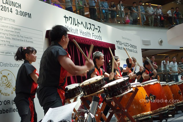 Japanese drum performance at Yakult Health Food Launch