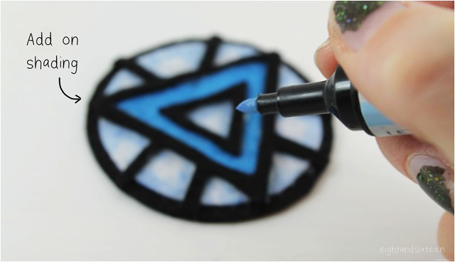 diy arc reactor brooch 9