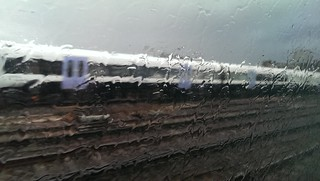 Train through the rain
