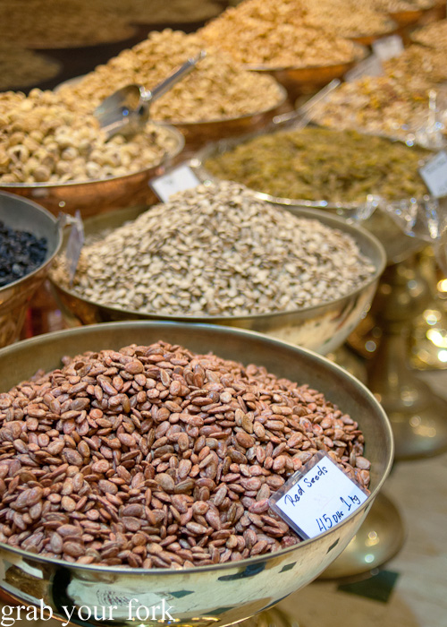 Iranian seeds, nuts and fruits on a Frying Pan Adventures food tour in Dubai