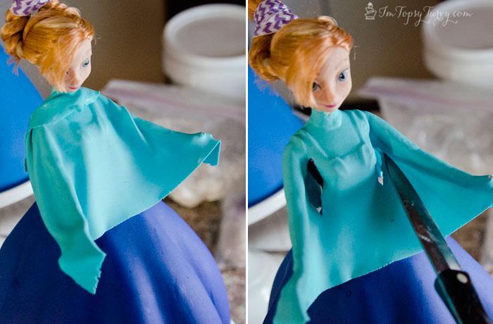 Frozen-princess-cake-gumpaste