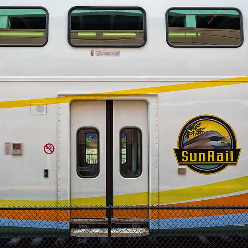 sunrail car logo and doors