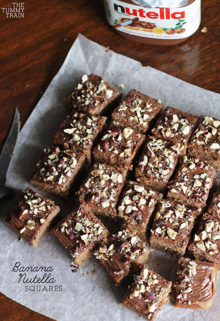 14042940738 30bdc4e561 b - Banana Nutella Squares born out of excitement