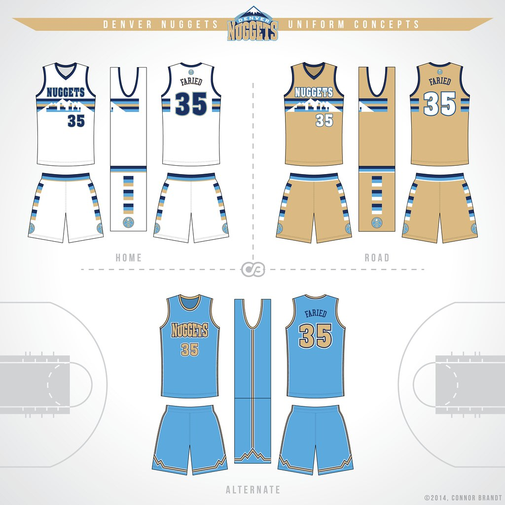 Nuggets Updated Roster: NBA Uniform Redesigns (Spurs Updated, Suns Added)
