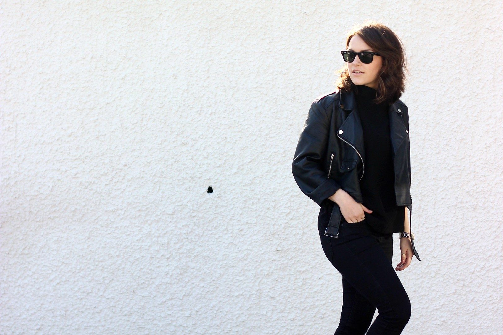 MIssguided cropped leather jacket 1
