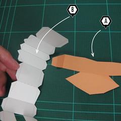 วิธีทำโมเดลกระดาษตุ้กตา คุกกี้สาวผู้ร่าเริง จากเกมส์คุกกี้รัน (LINE Cookie Run – Bright Cookie Papercraft Model) 014