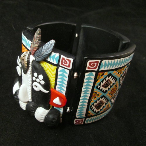 Kokopelli Kachina Tile Bangle