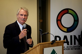 Oregon Governor John Kitzhaber at RAIN Declaration of Cooperation signing in Eugene, OR