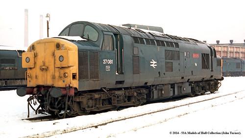 train diesel railway works britishrail doncaster southyorkshire lochlong brel class37 37081