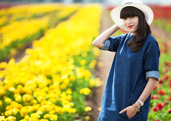 אפונה בלוג אופנה, שמלת ג'ינס, כובע, דר משיח, fashionpea, fashion blog, hat, outfit, denim dress