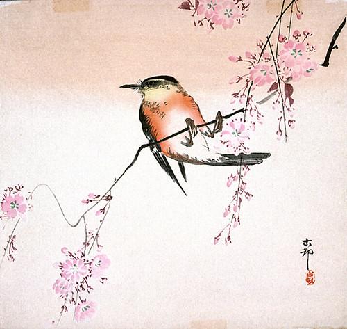 004- Pajaro en un cerezo-Ohara Koson-via Lacma
