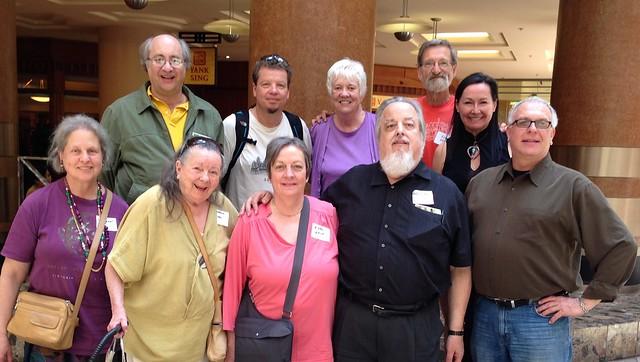 IMG_2547 L-R: (front) Lorikeet, dharmasyd, Expat Okie, LeftOfYou, Justice Putnam (back) jpmassar, citisven, maggiejean, side pocket & navajo