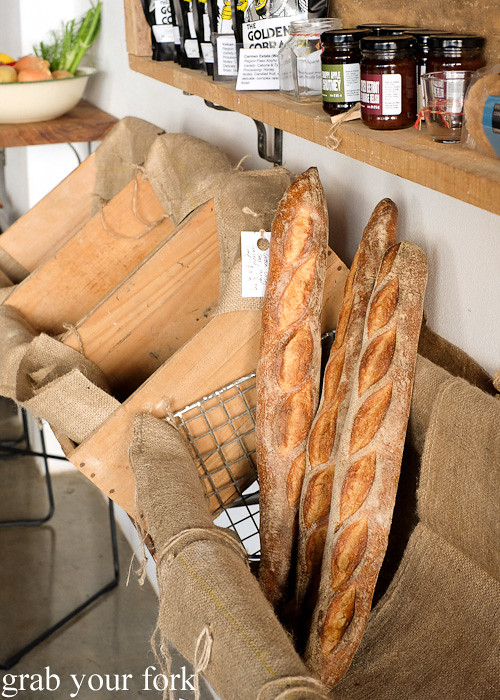 Baguettes from Grain Organic Bakery at The Stinking Bishops, Newtown
