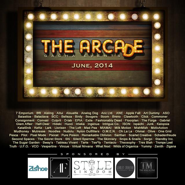 The Arcade - June's Gacha Event Poster