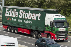 Volvo FH 6x2 Tractor with 3 Axle Curtainside Trailer - PX11 CHZ - H4782 - Janice Rosemary - Eddie Stobart - M1 J10 Luton - Steven Gray - IMG_0626