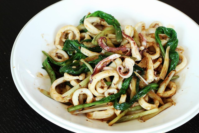 Squid with Ramps in Black Bean Sauce 5